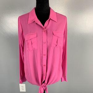 I.N.C.size large pink blouse w/pockets